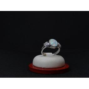 Hermoso Anillo De Plata 925 Con Opalo Y Cristales 2dd56b5