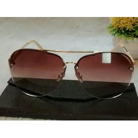 00bbc0100af2a Armacao Oculos Feminino Aviador Branco - Óculos De Sol Sem lente ...