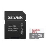 Sandisk Ultra, Tarjeta Micro Sdhc 16gb, Uhs-i, C10, 80mb/s