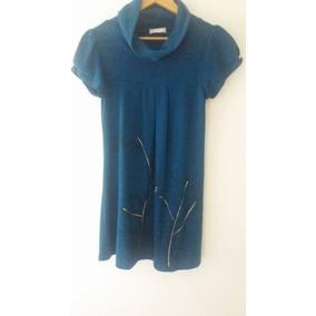 741fa803c4 Vestido Manga Corta - Vestidos de Mujer Azul petróleo en Mercado ...