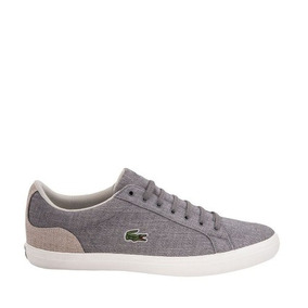 Tenis Casual Lacoste Hobre Color Gris Textil Is526a
