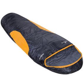Saco De Dormir Nautika Antartik 230501 - Preto/laranja