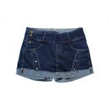 Short Jeans Feminino Plus Size Com Cinto 44/54 Promoção