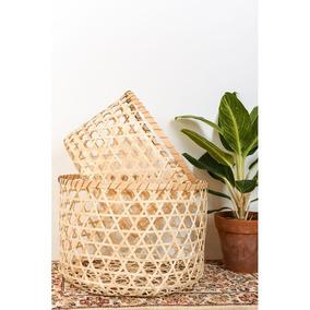 Cesto Bamboo Cilindrico Calado M