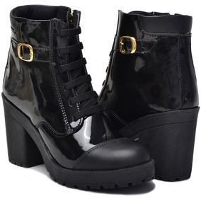 449cbb1ae9 Coturno Tratorado Preto E Dourado - Sapatos no Mercado Livre Brasil