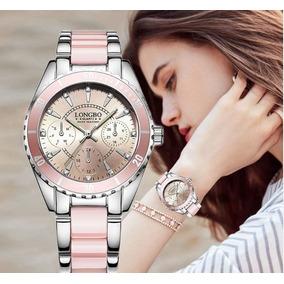 Reloj Pink Star Quartz Mujer Contra Agua Acero Inoxidable