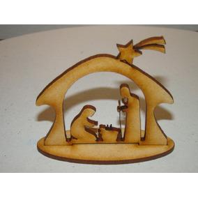 Pesebre Fibrofacil Souvenir Navidad Figura Mdf
