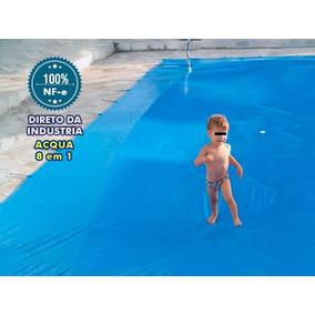 Capa De Piscina 8 Em 1 Pvc 500 Proteção+térmica 7m X 4m