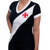 Camisa Retrô Vasco 1948 Feminina Retromania 07774ec311824