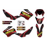 Adesivos Moto Trilha Motocross Nxr Bros 150 Geico 2008 16340