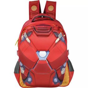 Mochila Costas Infantil Homem De Ferro Vermelha Xeryus 6242