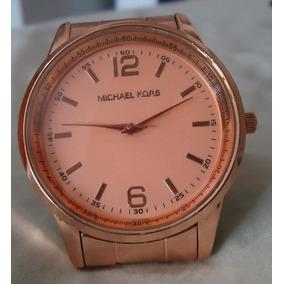 Relógio M K Mostrador E Pulseira Série Ouro Rosê 3