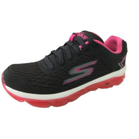 Tenis Skechers Mujer Go Air Negro Fiusha Running  23.5 6f9e915063488