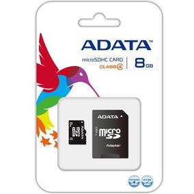 Memoria Micro Sd 8gb Con Adaptador Clase 4|marca Adata