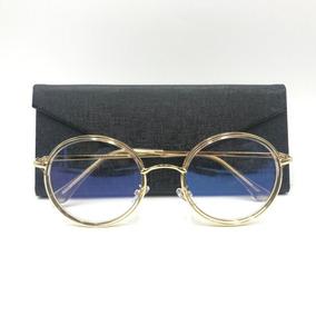 a33d208a409ed Óculos Redondo Masculino Dourado De Grau - Óculos no Mercado Livre ...