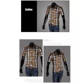 Camisa Manga Curta Social Masculina Anti-transpirante