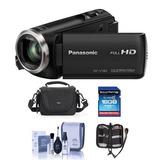 Videocámara Full Hd Panasonic Hc-v180k Con Zoom Ptico Es...