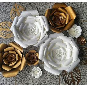 Kit 12 Flores Gigantes De Papel Para Sus Eventos