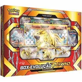 Box Cards Pokémon Evolução Turbo Arcanine - Original Copag
