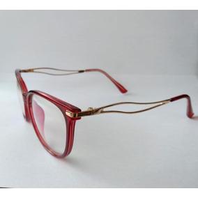 Armação Óculos Grau Feminino Promoção - Óculos Vermelho no Mercado ... 10ad184aaf