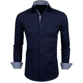 b163fb8e31 Camisa Social Slim Fit Estilo Europeu Frete Grátis Para 2 Un