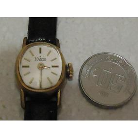 Reloj Swiss Haste Dama Micro Gold Plated 10 Microns Cuerda