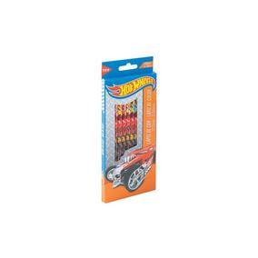 Lápis De Cor Personalizado Hot Wheels 12 Cores Escolar Tris