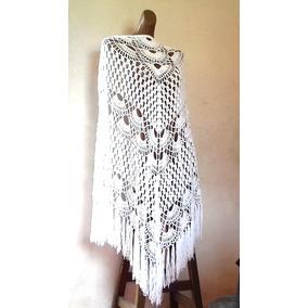 Chal, Capa, Poncho Tapado Tejido A Mano, Crochet