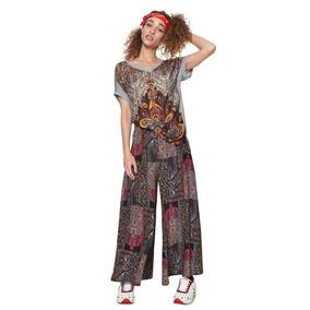 Playera Dama Textil Gris Desigual
