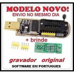 Gravador De Eprom Usb Ch341a 24x25x Com Adap Sop8 200m