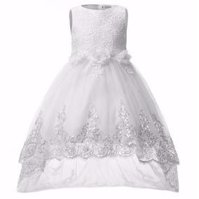 Vestido Longo Infantil Festa Casamento Daminha Com Calda