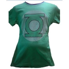 Dc - Playera Linterna Verde Logo Original, Nueva