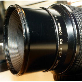 Canon Fd 100mm F4 Macro Adaptado A Sony Nex E
