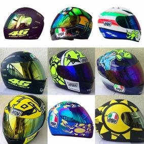 Capacete Moto Italy Relógio 2 Viseiras Valentino Rossi