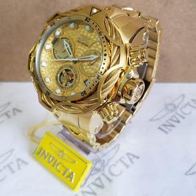 Relógio Invicta Reserve Venom Dourado Com Dourado Completo!