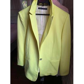 Chaqueta Blazer Zara Color Amarillo - Ropa f1bb883158b0