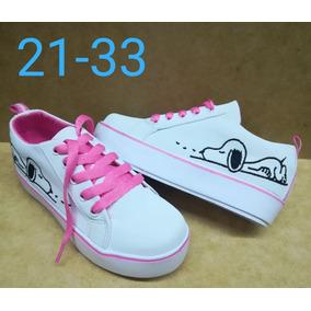 Zapato De Cordón Tenis Deportivo Snoopy Niña Moda Colombia 7ec8644e2f3b