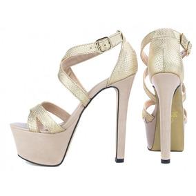 9f95c71e2 Sandalias Femininas De Festa Novos - Sapatos para Feminino Dourado ...