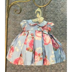 Vestido Infantil Kopela - Azul Floral - Acompanha Calcinha