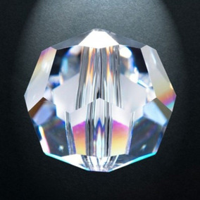 Piedra Cristal Natural Ochavada 14 Mm Para Rosario O Cortina