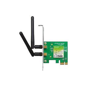 Tarjeta De Red Tp-link Pci-e 2,4ghz, 2 Antenas 300mbps