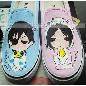 00e206e079722 Zapatos Ciel Y Sebastian Anime Diseño Hecho A Mano Marca Co