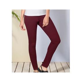 Pantalon Casual Udt Urbano Vino Andrea Dama Algodón D33619 7b4cf60fc1cd