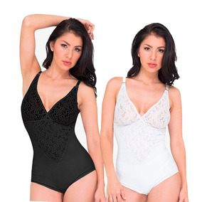 Kit Body Blanco Negro Elegance Seduction Cinturilla Faja