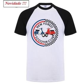 Camiseta Branca Masculina G Scooter Vespa 100% Algodão M.c.
