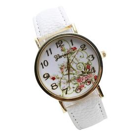 116fac614b7 Relógio Floral Branco - Relógios De Pulso no Mercado Livre Brasil