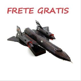 Metal 3d Puzzle Sr-71 Blackbird Frete Grats