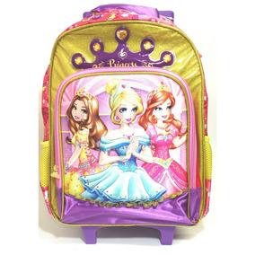 Mochila Escola Infantil Feminina 3 Princesas