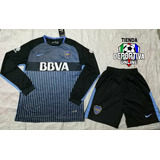 Uniforme Del Boca Junior 2018 (camisa + Pantaloneta)