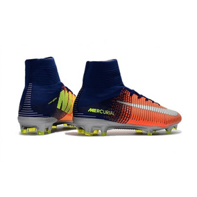 fa0f021aef Chuteira Nike Mercurial Glide Azul laranja C  Cravo - Chuteiras para ...